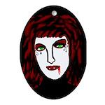 Dark Vampire Oval Ornament
