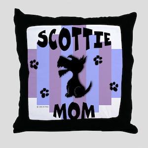 Scottie Mom Stripe Throw Pillow