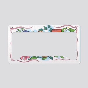 Flower pot License Plate Holder