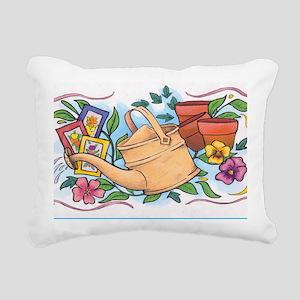 Flower pot Rectangular Canvas Pillow