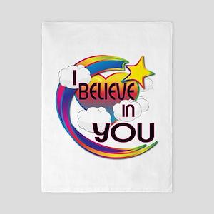 I Believe In You Cute Believer Design Twin Duvet