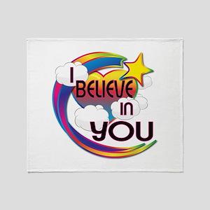 I Believe In You Cute Believer Design Throw Blanke
