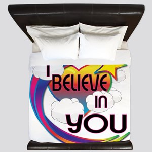 I Believe In You Cute Believer Design King Duvet