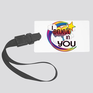 I Believe In You Cute Believer Design Large Luggag