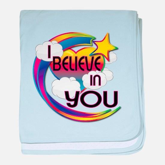 I Believe In You Cute Believer Design baby blanket