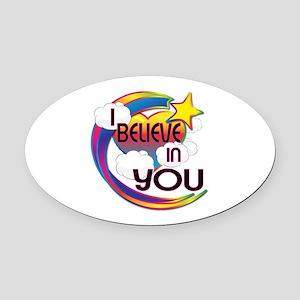 I Believe In You Cute Believer Design Oval Car Mag