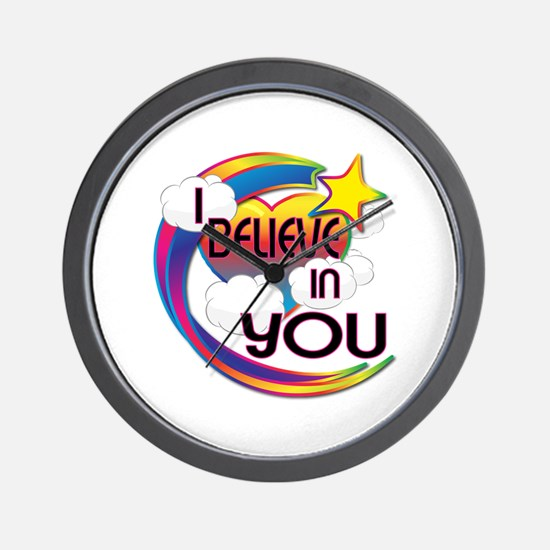 I Believe In You Cute Believer Design Wall Clock