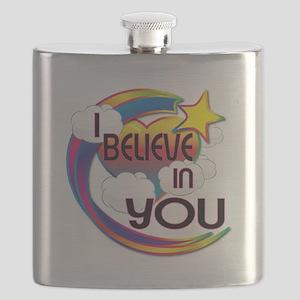 I Believe In You Cute Believer Design Flask