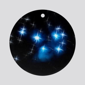 Pleiades Blue Star Cluster Ornament (Round)