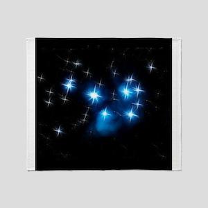 Pleiades Blue Star Cluster Throw Blanket