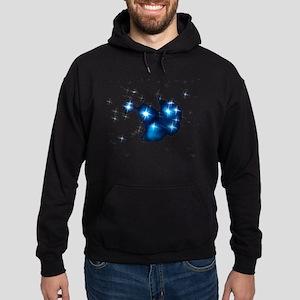 Pleiades Blue Star Cluster Hoodie