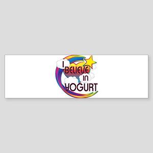 I Believe In Yogurt Cute Believer Design Sticker (
