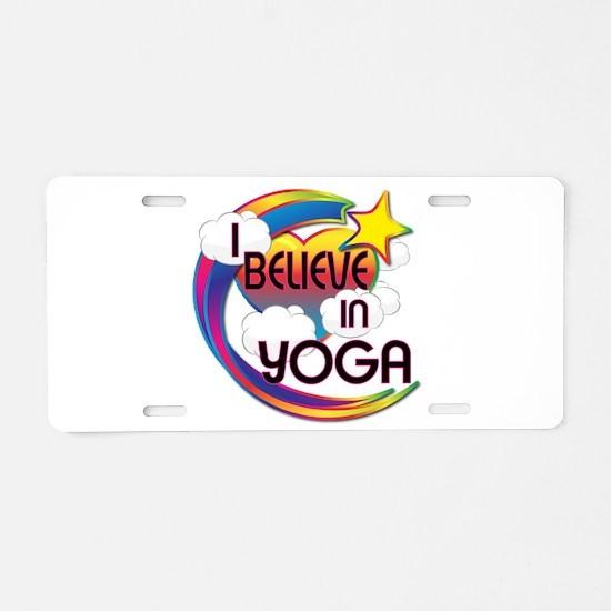 I Believe In Yoga Cute Believer Design Aluminum Li