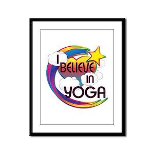 I Believe In Yoga Cute Believer Design Framed Pane