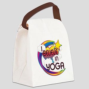 I Believe In Yoga Cute Believer Design Canvas Lunc