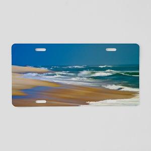 Cape Hatteras Ocean Blur Aluminum License Plate