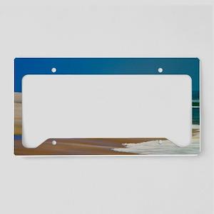 Cape Hatteras Ocean Blur License Plate Holder