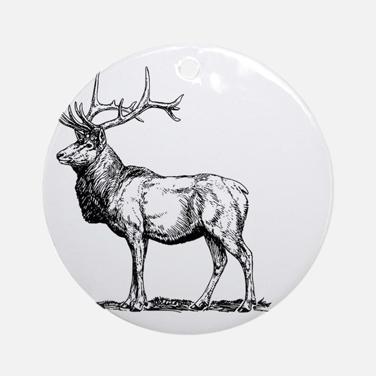 Stag Round Ornament