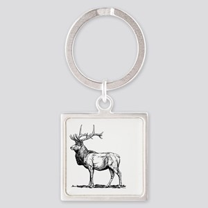 Stag Square Keychain