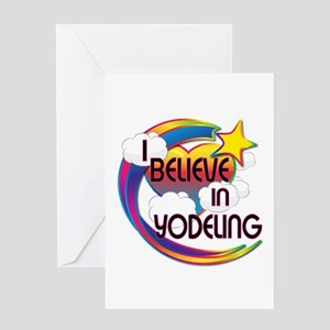 I Believe In Yodeling Cute Believer Design Greetin