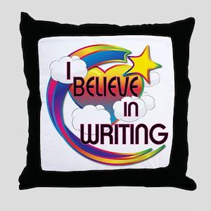 I Believe In Writing Cute Believer Design Throw Pi