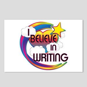 I Believe In Writing Cute Believer Design Postcard