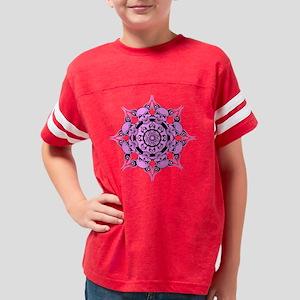Pink Skull Circle Youth Football Shirt