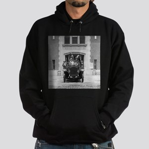 Fire Engine Crew at Firehouse Hoodie
