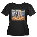 Halloween Dachshunds Plus Size T-Shirt