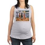 Halloween Dachshunds Maternity Tank Top