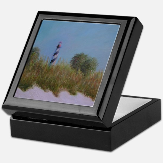 ST. AUGUSTINE LIGHTHOUSE VIEW Keepsake Box