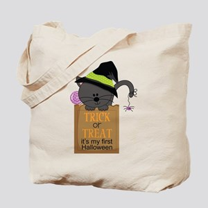 1st Halloween Trick or Treat Tote Bag