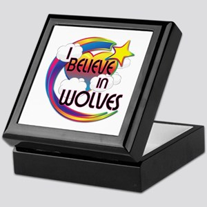 I Believe In Wolves Cute Believer Design Keepsake