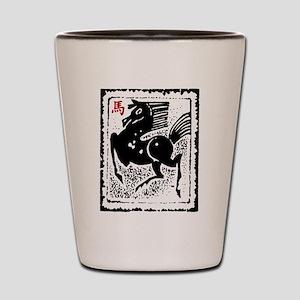 Chinese Zodiac Horse Artistic Design Shot Glass
