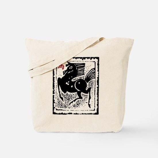 Chinese Zodiac Horse Artistic Design Tote Bag