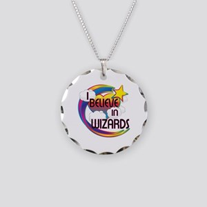 I Believe In Wizards Cute Believer Design Necklace