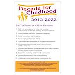 Ten Pillars of a Good Childhood Poster