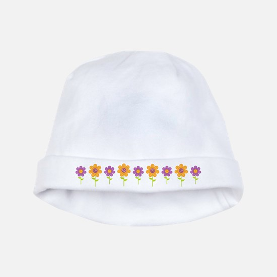 Holiday Flower Garden baby hat