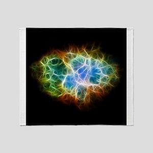 Crab Nebula Star Cloud Throw Blanket