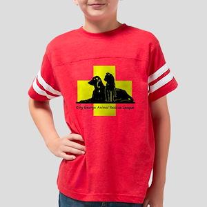 Yellow Black Transparent Youth Football Shirt