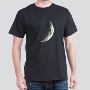 Quarter Moon Lunar Planet Globe T-Shirt