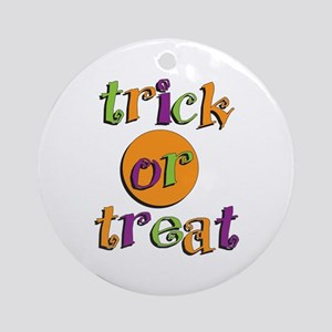 Trick or Treat 2 Ornament (Round)
