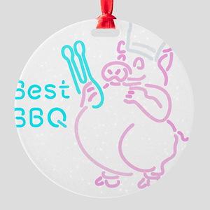 Porky BBQ Round Ornament