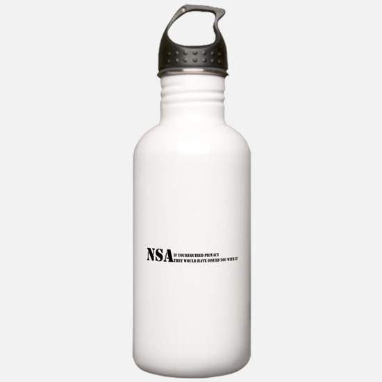 NSA privacy issue Sports Water Bottle