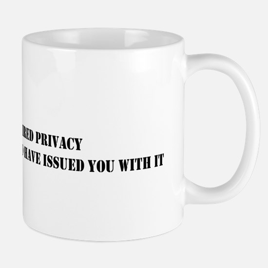 NSA privacy issue Mugs