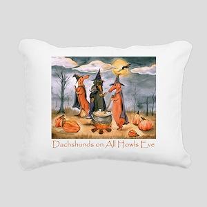 Halloween Dachshunds Rectangular Canvas Pillow