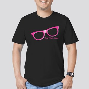 Pink Nerd Glasses Personalized Men's Fitted T-Shir