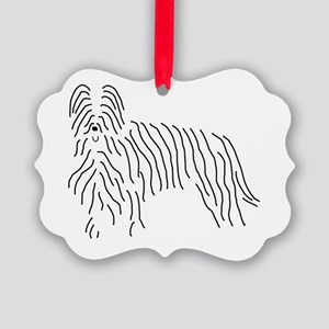 Briard Sketch Picture Ornament
