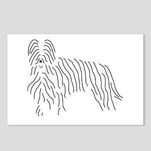 Briard Sketch Postcards (Package of 8)