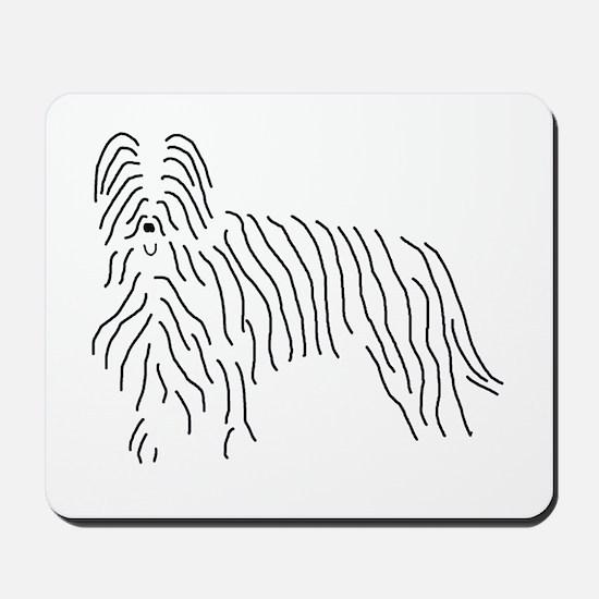 Briard Sketch Mousepad